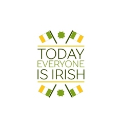 Saint Patricks Day Flat Style Typographical vector image vector image