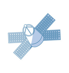 Satellite spaceship technology vector
