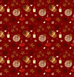 Seamless pattern of winter spices vector image