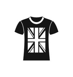 T-shirt with the British flag icon simple style vector image vector image
