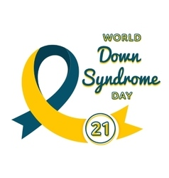 World Down Syndrome day greeting emblem vector image vector image