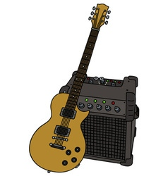 Electric guitar and the combo vector