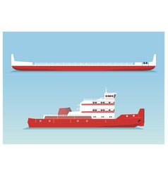 tugboat and barge vector image