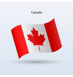Canada flag waving form vector