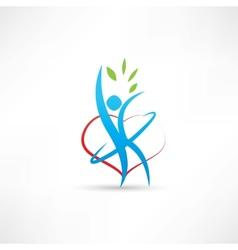 love for gymnastics icon vector image