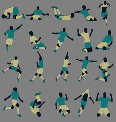 Goal celebration silhouette vector