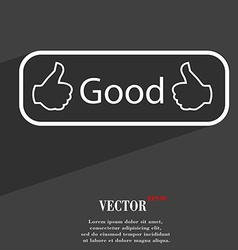 Good icon symbol flat modern web design with long vector