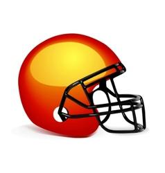american gridiron helmet vector image