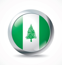 Norfolk island flag button vector