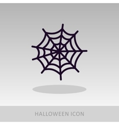 Spider web halloween icon vector