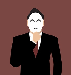 Businessman wearing a mask vector