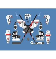 Hockey equipment set vector