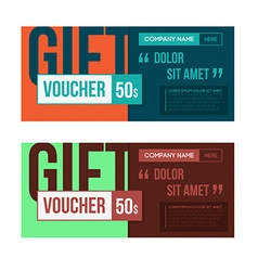 Gift voucher template set two gift cards design vector