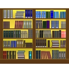 Bookshelf volume design vector