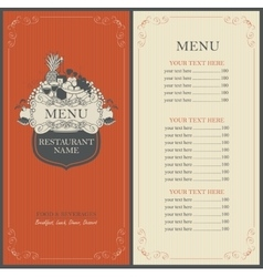 Frame menu with floral ornaments vector