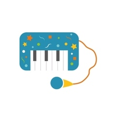 Piano icon toy design graphic vector