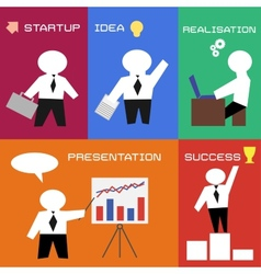 Business process in flat style vector