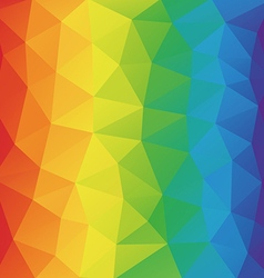 Color spectrum abstract geometric rumpled vector image vector image