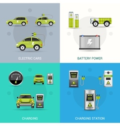 Electric Car Set vector image