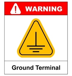 Electrical grounding sign vector