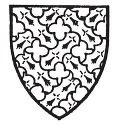 Giffard bore gules with an engrailed fret of vector