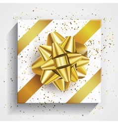 Gift box - christmas and birthday bow vector image vector image