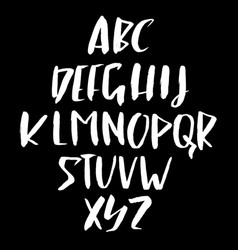 Hand drawn retro calligraphy font modern brush vector