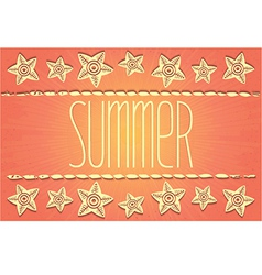 Hawaiian-style summer card vector