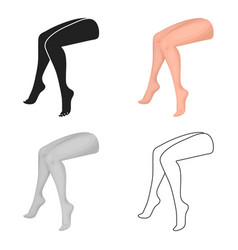 Legs icon in cartoon style isolated on white vector