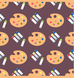 painting art tools palette seamless pattern flat vector image