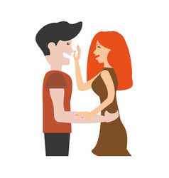 portrait couple romantic image vector image vector image
