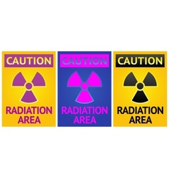 Radiation hazard sign vector