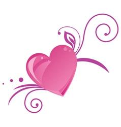 Romantic heart silhouette vector image vector image