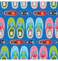 Seamless hipster gumshoes pattern vector image