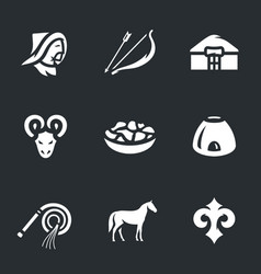 Set of nomad icons vector