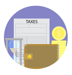 tax day icon vector image
