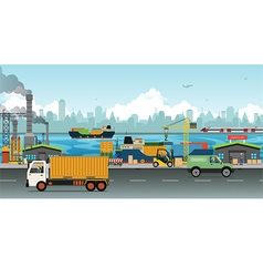 Transportation and warehousing industry vector image vector image