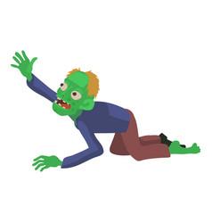 Zombie creeps icon cartoon style vector