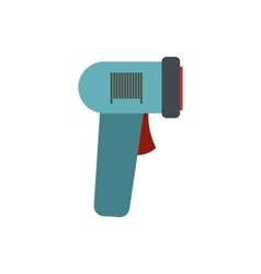 Barcode scanner icon flat style vector