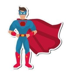 Superhero avatar superman comic design vector