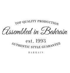 Assembled in bahrain rubber stamp vector