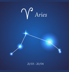 Zodiac constellation aries the ram vector