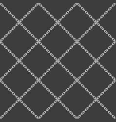 chain seamless pattern black vector image