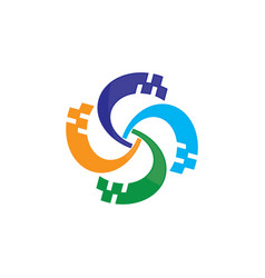 abstract spin logo image vector image