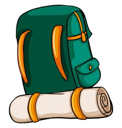 A travelling bag vector