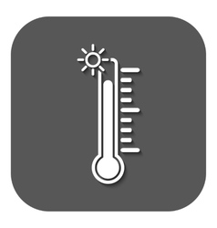 The thermometer icon high temperature symbol vector