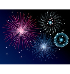 vector fireworks background vector image