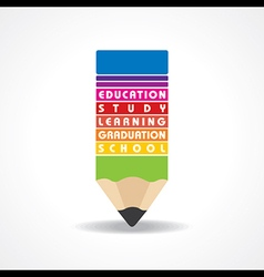 Educational concept - pencil with education text vector