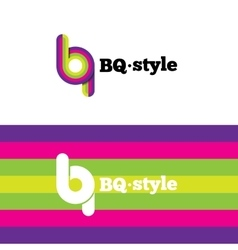 Modern abstract logo b and q letters vector