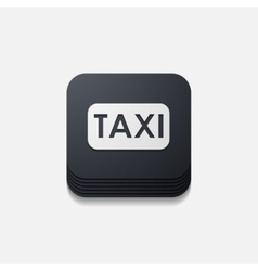 Square button taxi vector